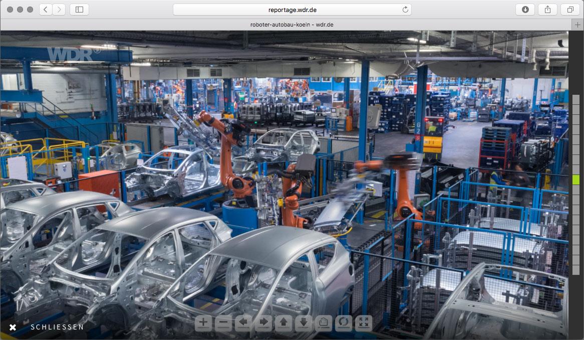 Industrieroboter bei Ford | Kugelpanorama von Chris Witzani