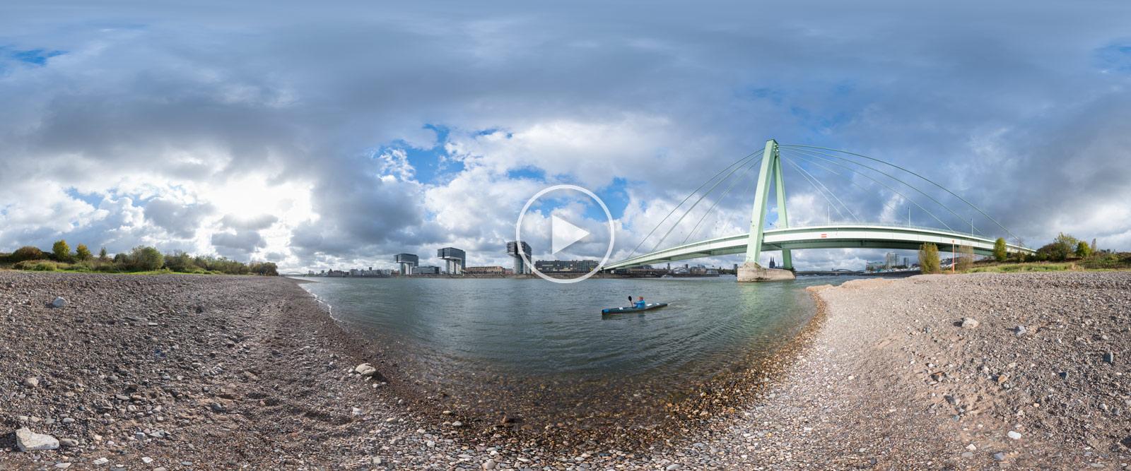 Rheinkilometer 687,2 | 360°x180°-Panoramafotografie von Chris Witzani