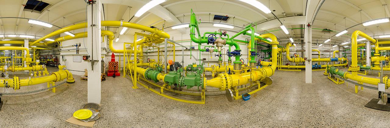 Wartung in einer Erdgasanlage im Chempark Dormagen
