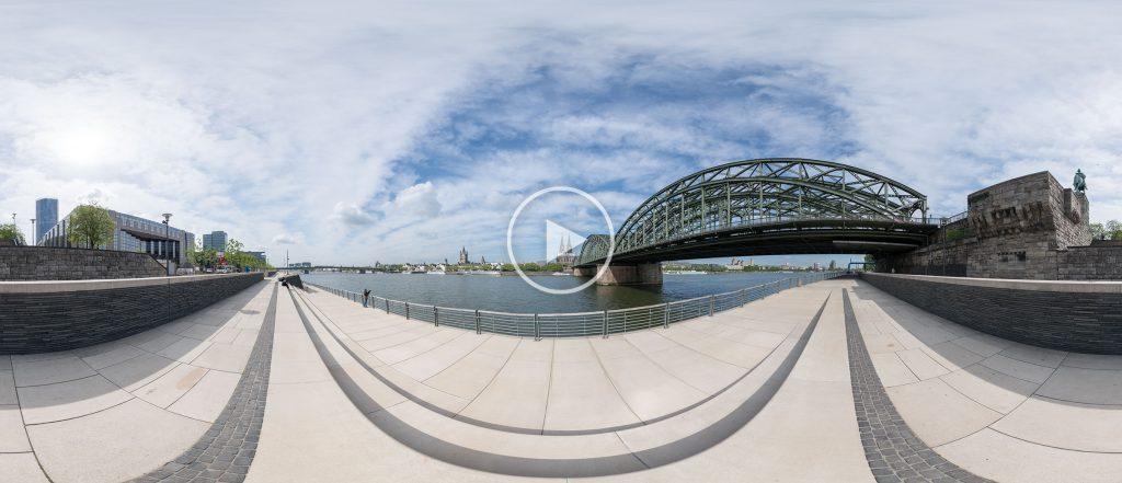 Rheinboulevard an der Hohenzollernbrücke | 05.2018