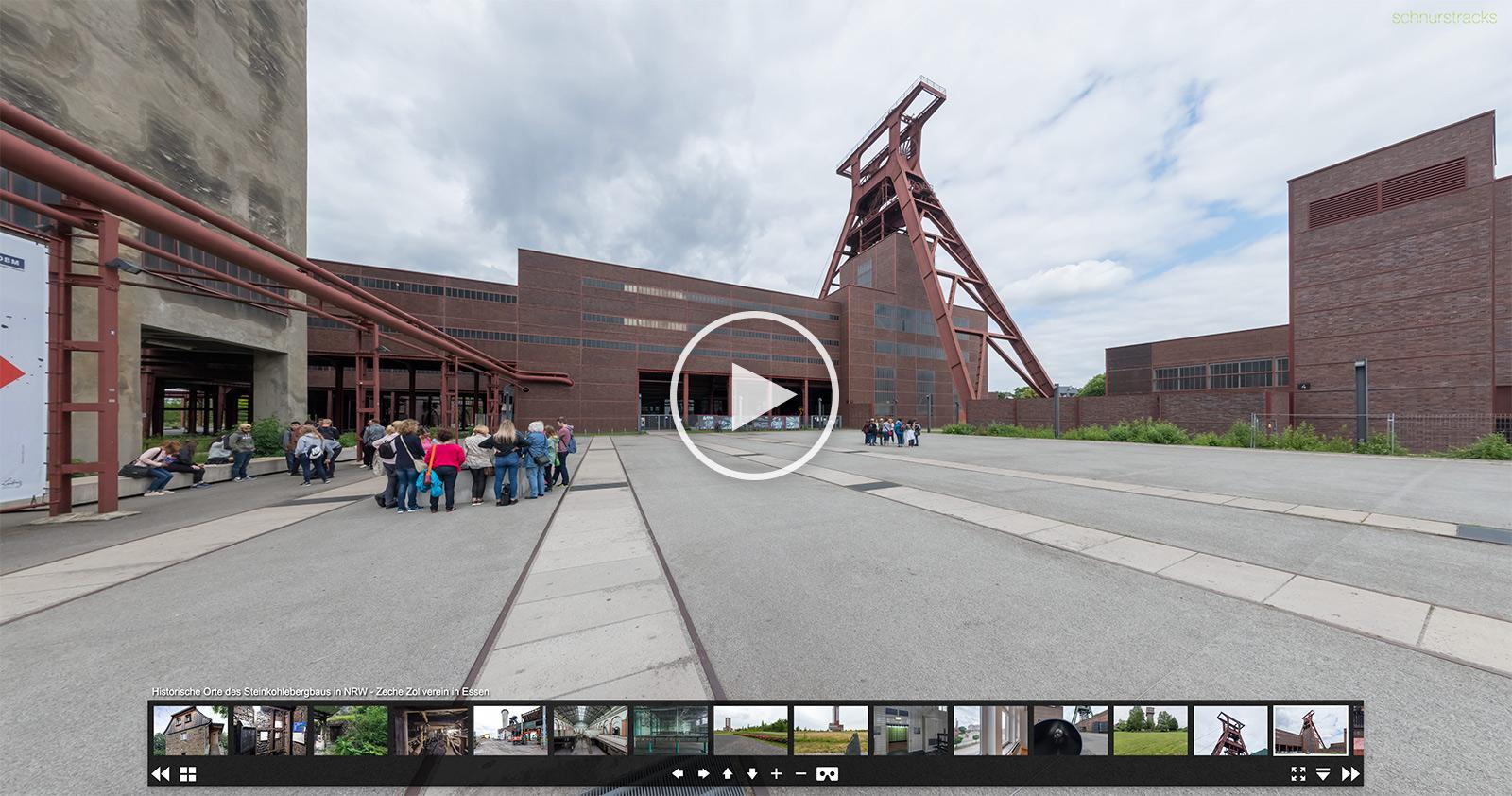 Historische Orte des Steinkohlebergbaus in NRW | Kugelpanoramen von Chris Witzani im Auftrag des WDR | glueckauf.wdr.de