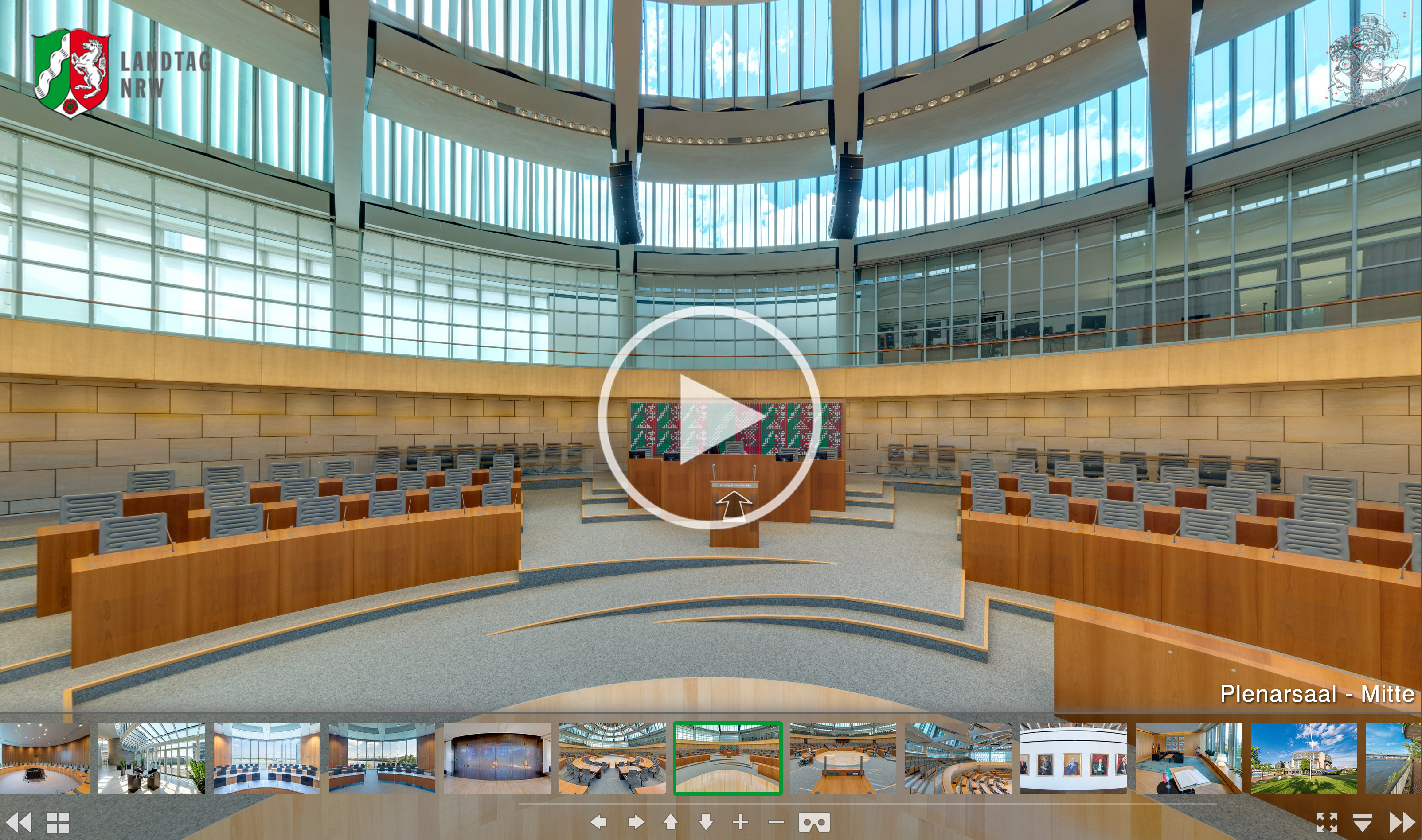 Virtuelle Tour Landtag NRW