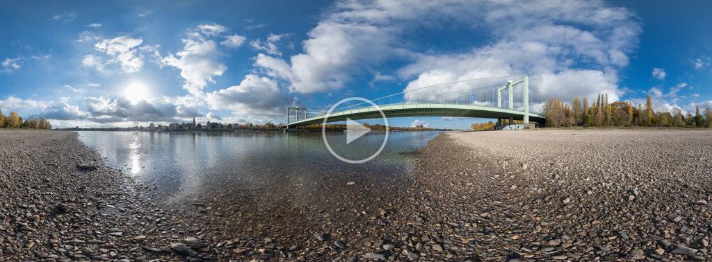 Rodenkirchener Brücke bei Niedrigwasser #5949 | 11.2018
