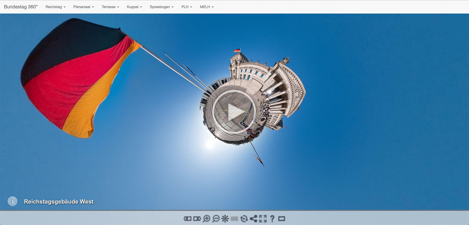 Virtuelle Tour mit mehr als50 Kugelpanoramen durch das Berliner Regierungsviertel