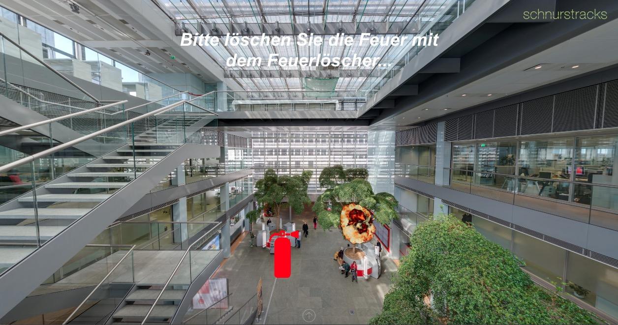 Interaktive Brandschutz-Demo im 360°-Panorama