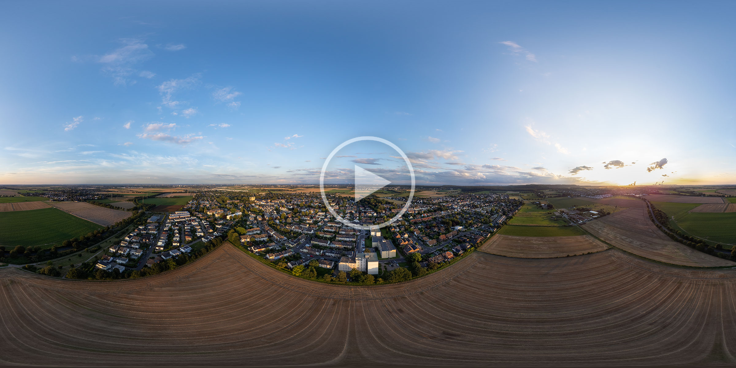 Brauweiler Luftbildpanorama
