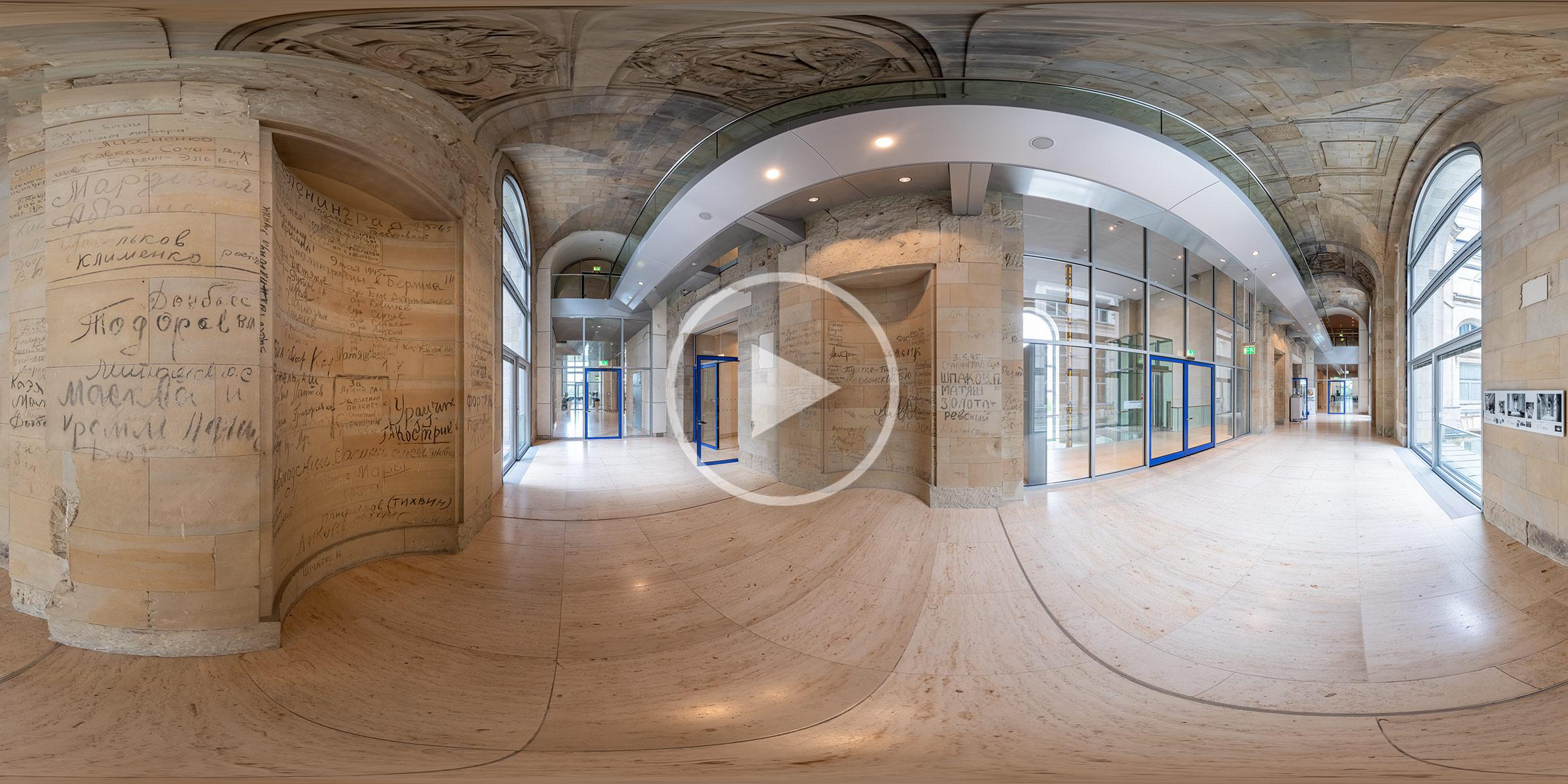 Kyrillische Inschriften im Reichstagsgebäude